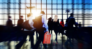 Airport Commuter Business Travel Tour Vacation Concept.  Stock Photos