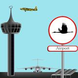 Airport concept Royalty Free Stock Photos