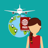 Airport concept design. Illustration eps10 graphic Royalty Free Stock Image