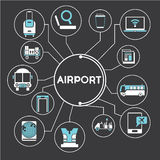 Airport concept info graphic Royalty Free Stock Photo