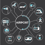 Airport concept info graphic Stock Images