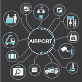Airport concept info graphic Royalty Free Stock Images