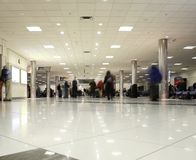 Airport concourse Royalty Free Stock Photos