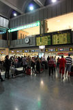 Airport concourse stock image