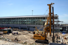 Airport construction #1. Terminal 2 construction at Warsaw's Chopin airport Royalty Free Stock Photo