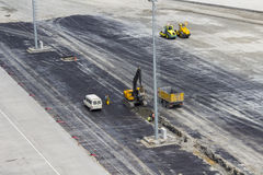 Airport Construction in Istanbul Ataturk Airport Royalty Free Stock Photography