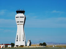 Airport Control. Military Airport Control Tower, Horizontal stock photos