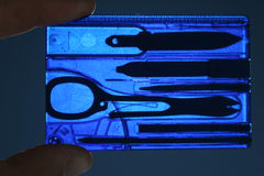 Airport control. X-ray of manicure tools royalty free stock image