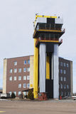 Airport control tower. With tilted windows Royalty Free Stock Photo