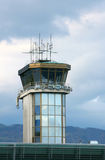 Airport control tower. In Ljubljana stock photo