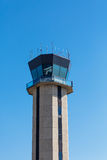 Airport Control Tower Against Blue Sky Royalty Free Stock Photography