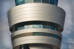 Airport control tower closeup Royalty Free Stock Photo
