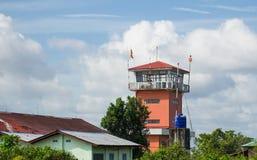 Airport control tower in Myeik, Myanmar Stock Photo