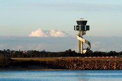 Airport Control Tower in Sydney, Australia Stock Photos