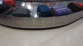 Airport Conveyor For Baggage. Airport Belt Conveyor For Baggage stock footage