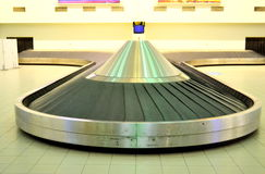 Airport conveyor belt Royalty Free Stock Image