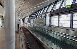 Airport corridor Royalty Free Stock Photography