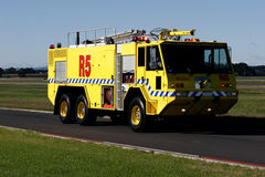 Airport Crash Tender. At Auckland International Airport royalty free stock images