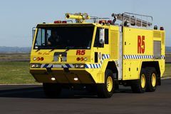 Airport Crash Tender. At Auckland International Airport stock photography