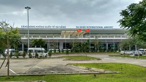 Airport Da Nang Vietnam stock photos