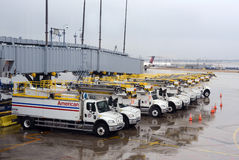 Airport deicing crew Stock Photos
