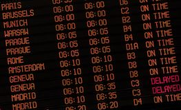Airport Delay Sign Stock Image