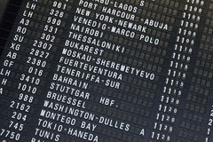 Airport Departure & Arrival information board sign Royalty Free Stock Photo