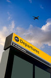Airport Departure and Arrival sign. At Heathrow, London Royalty Free Stock Photography