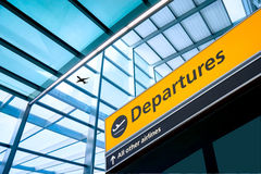 Airport Departure and Arrival sign Royalty Free Stock Photo