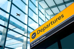 Airport Departure and Arrival sign at Heathrow, London. England, UK Stock Images