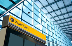 Airport Departure and Arrival sign at Heathrow, London Stock Photos