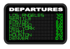 Airport Departure board Stock Images