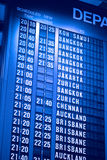Airport Departure Board Royalty Free Stock Photography