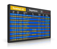 Airport departure board Royalty Free Stock Image