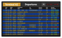 Airport departure board Royalty Free Stock Images
