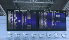 Airport Departure Board Information Royalty Free Stock Image