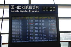 Airport Departure Board Information Royalty Free Stock Images