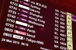 Airport Departure Board Information Royalty Free Stock Photography