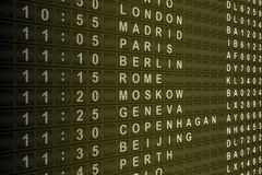 Airport Departure Board Stock Photos