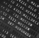 Airport departure display board background Stock Image