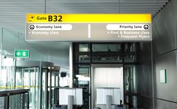 Airport departure gate Stock Image