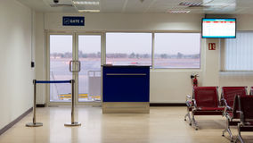 Airport  departure gate lounge, RAK, UAE Royalty Free Stock Photos
