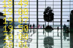 Airport departure hall Royalty Free Stock Photo