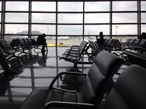 Airport Departure Lounge Royalty Free Stock Photography