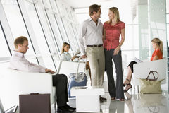 airport departure lounge passengers waiting Στοκ εικόνες με δικαίωμα ελεύθερης χρήσης