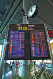 Airport departure timetable Stock Images