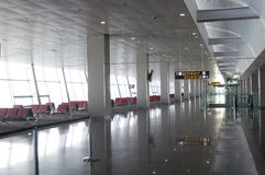 Airport departure waiting area Stock Image