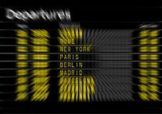 Airport Departures Board Stock Photo
