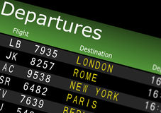 Airport Departures Board Stock Photos