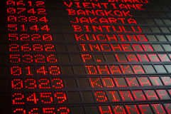 Airport departures board Stock Photography
